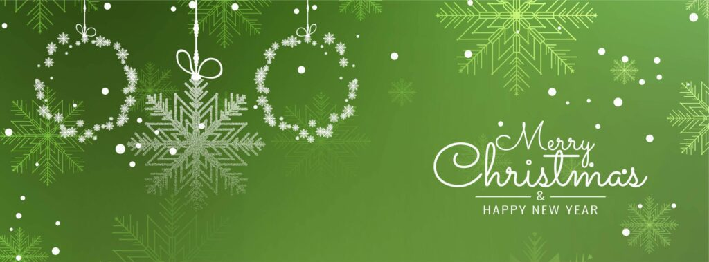 Abstract decorative Merry Christmas banner template